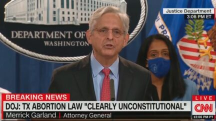 Merrick Garland announces lawsuit against Texas abortion law
