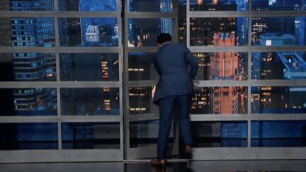 Stephen Colbert storms off set after raning about sex parties