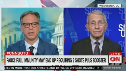 Jake Tapper Grills Anthony Fauci on Booster Messaging