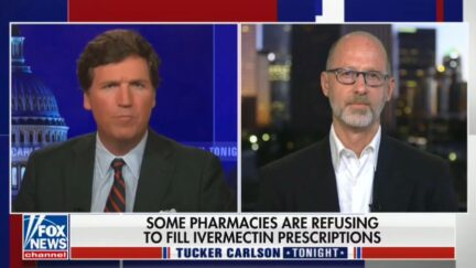 Tucker Carlson and guest talking about ivermectin