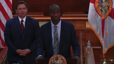 Joseph Ladapo being announced as Florida surgeon general