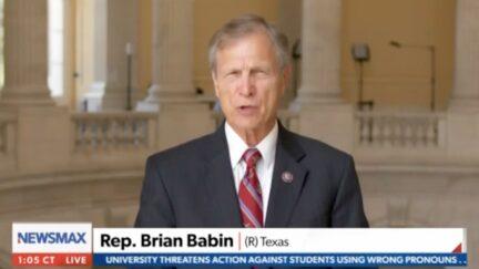 Brian Babin criticizing Biden over border