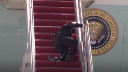 Joe Biden Slips on Air Force One Stairs