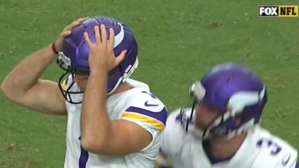 Gus Johnson goes wild after Vikings kicker misses field goal