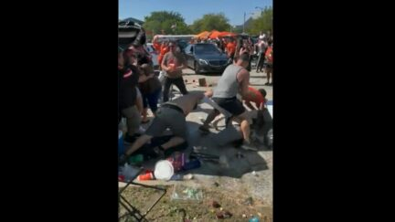 Cleveland Browns fans brawl before home opener