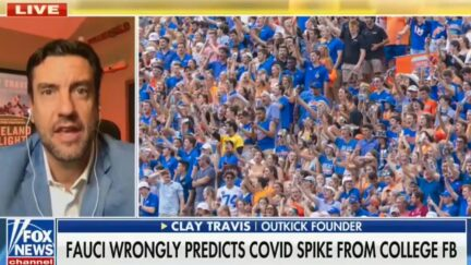 Clay Travis blasts Dr. Fauci on Fox News for his college football prediction
