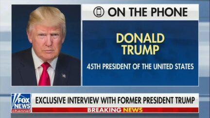 Trump Calls for new GOP Leadership
