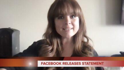 Blaire Erskine posts statement posing a Facebook spokesperson