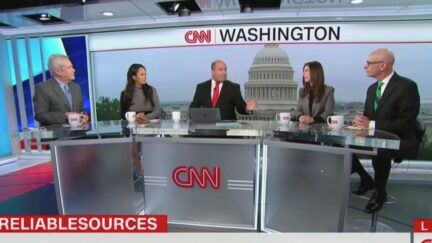 CNN's Brian Stelter conducts Reliable Sources panel