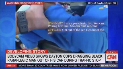 dayton ohio cops drag black paraplegic man from car
