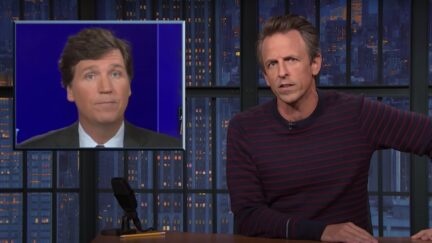 Seth Meyers rips Tucker Carlson on Late Night