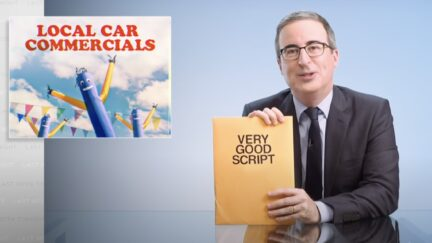 John Oliver gets car dealership to make an ad with his script