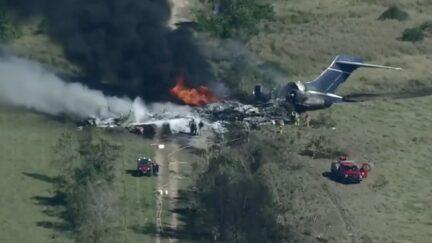 Plane crash in Houston