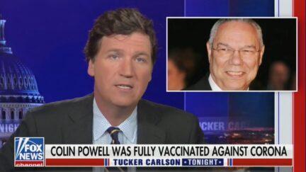 Tucker Carlson Slams Vaccines Over Colin Powell Death