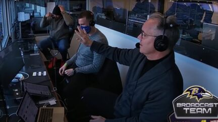 Fan invades Ravens radio booth looking for a drink